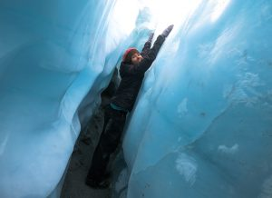 Look who found an ice cave!