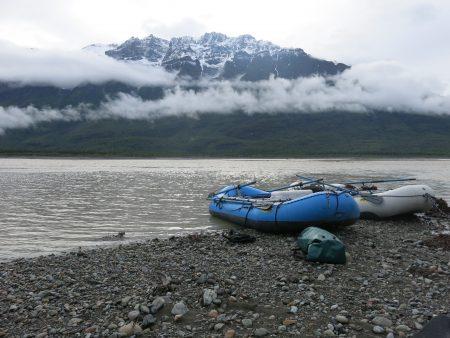 Wrangell Mountains at Chitina Nizina confluence