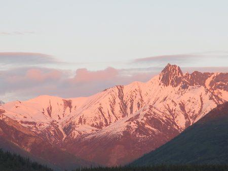 Nearby alpenglow